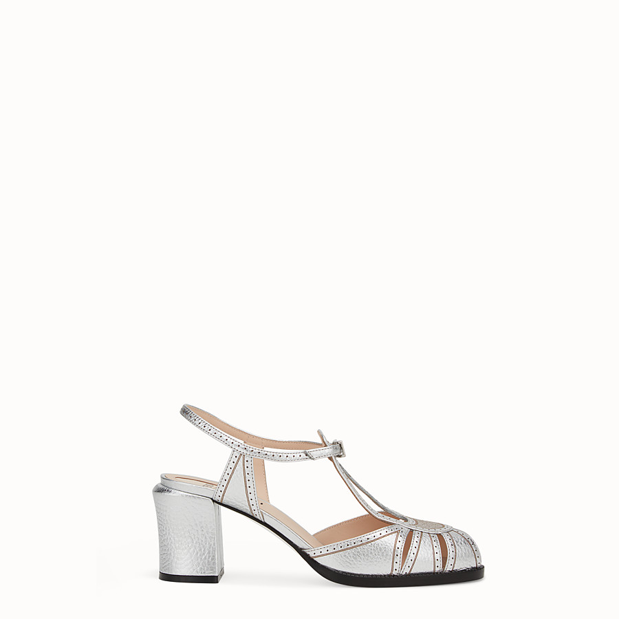 FENDI SANDALS - Sandals in metallised leather - view 1 detail