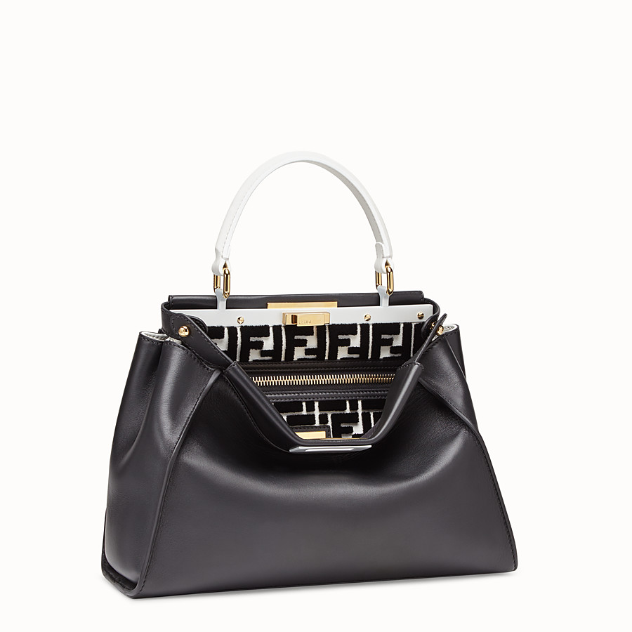 FENDI PEEKABOO REGULAR - Multicolour leather bag - view 2 detail