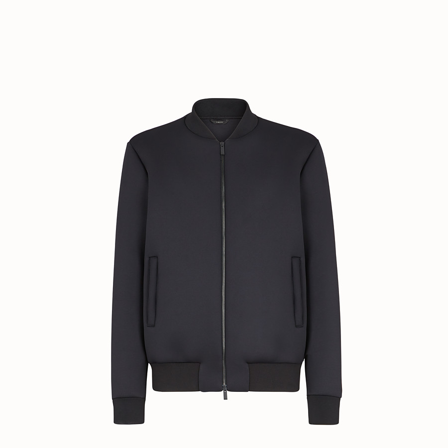 FENDI BLOUSON JACKET - Black tech fabric jacket - view 1 detail