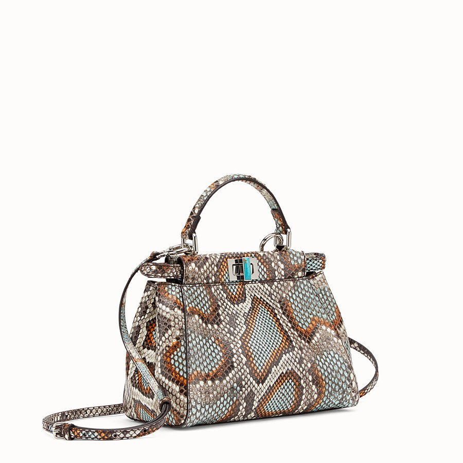 FENDI PEEKABOO MINI - Multicolour python handbag - view 2 detail