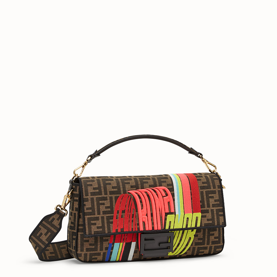 FENDI BAGUETTE LARGE - Fendi Roma Amor fabric bag - view 2 detail