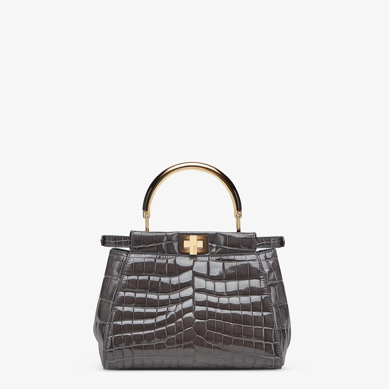 FENDI PEEKABOO ICONIC MINI - Agate-polished crocodile leather bag - view 3 detail