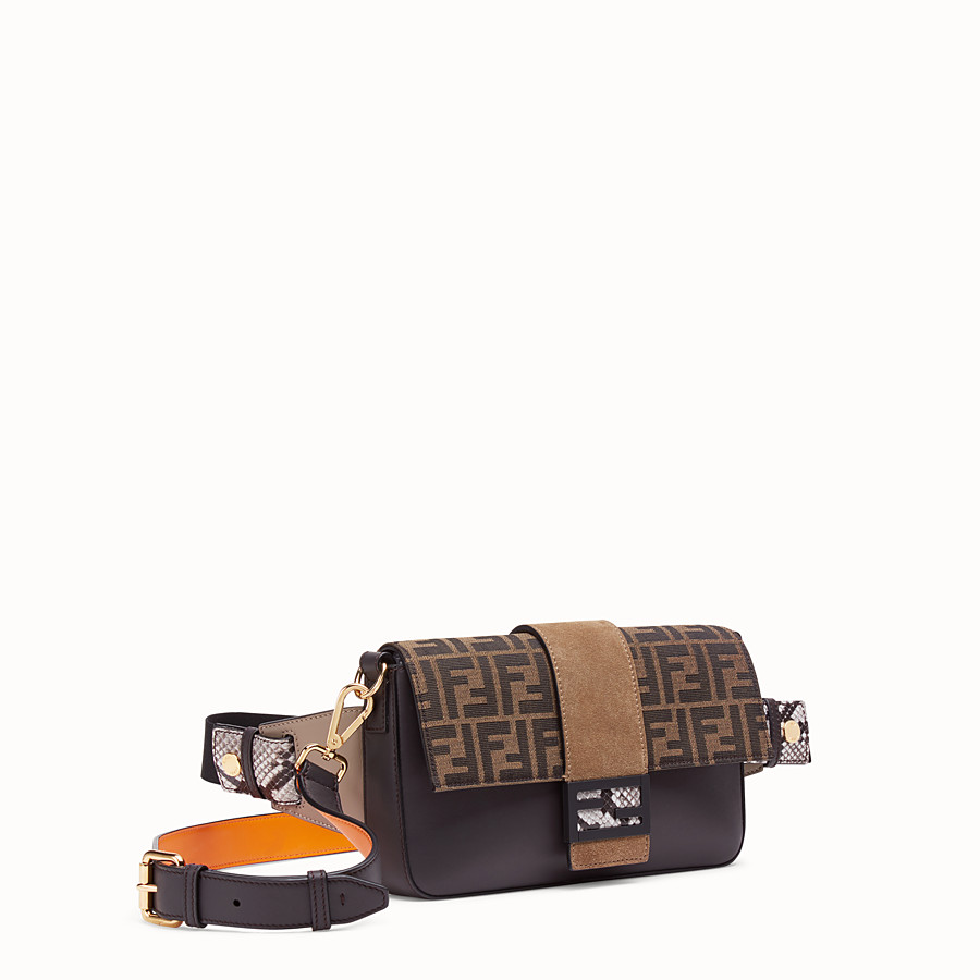 FENDI BAGUETTE - Brown calfskin bag - view 2 detail