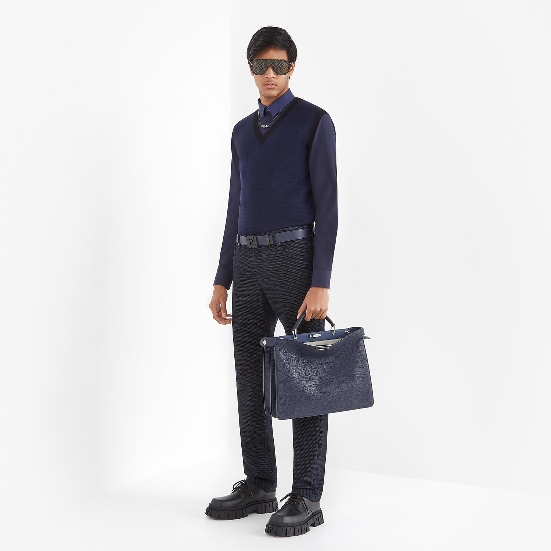 FENDI SHIRT - Blue cotton shirt - view 4 detail