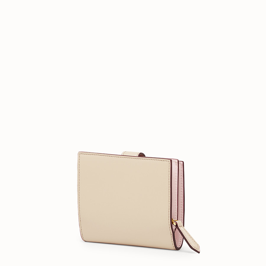 FENDI BIFOLD - Beige leather compact wallet - view 2 detail