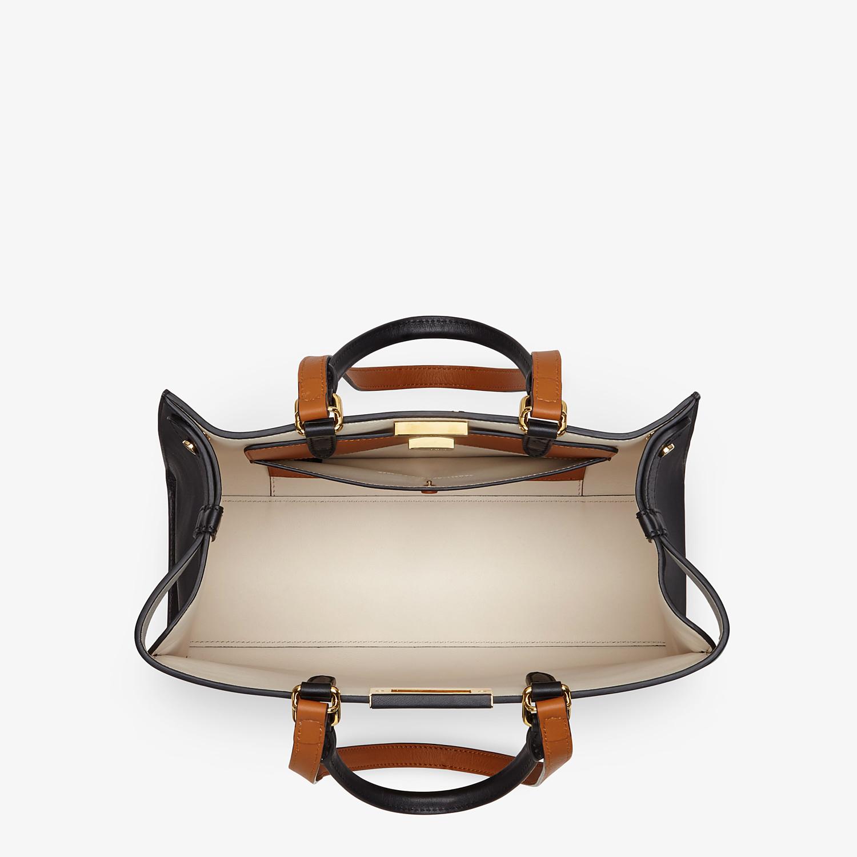 FENDI SMALL PEEKABOO X-TOTE - Black leather bag - view 5 detail
