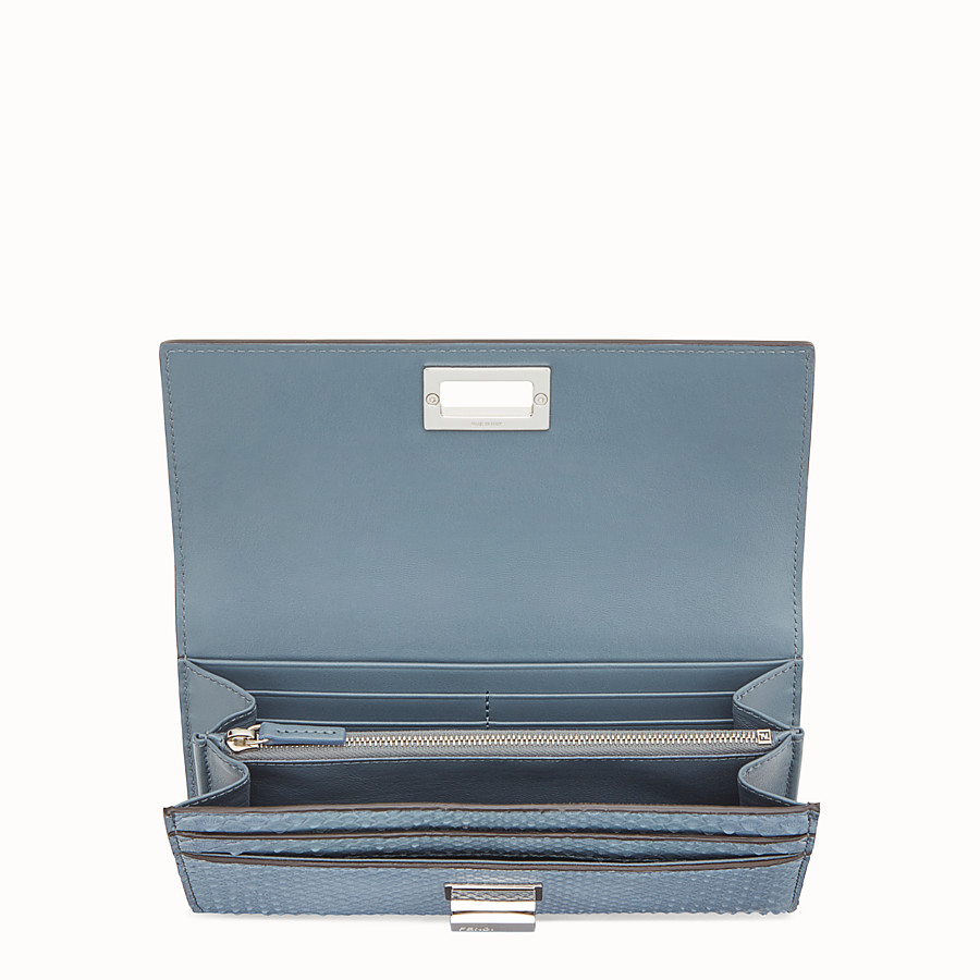 FENDI CONTINENTAL - Wallet in blue python skin - view 4 detail