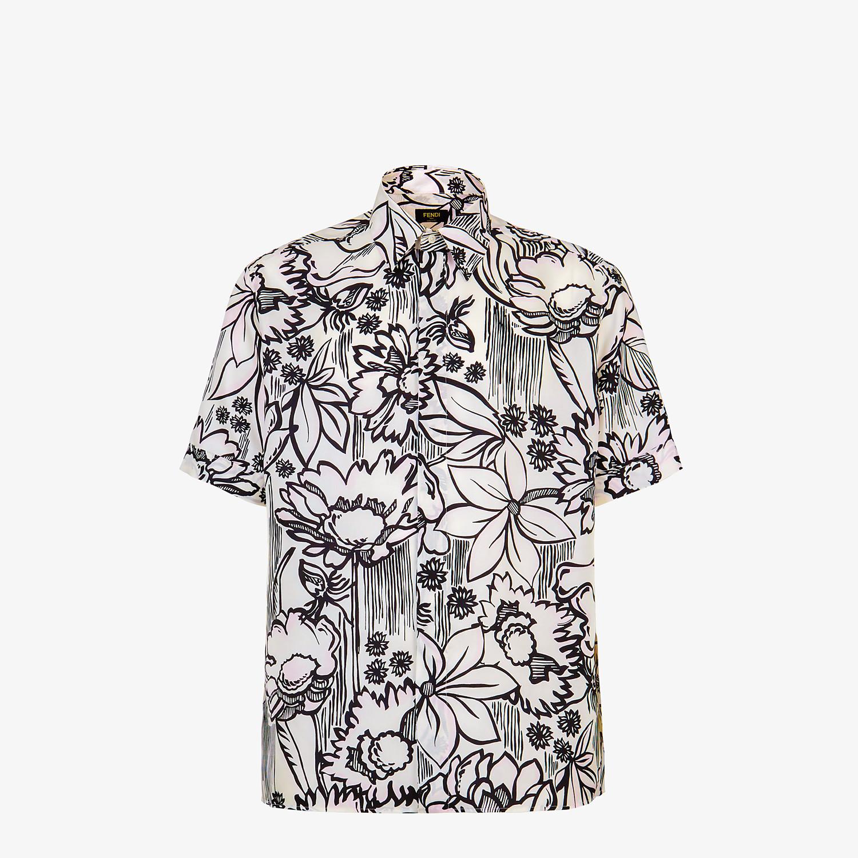 FENDI SHIRT - Pink silk shirt - view 1 detail