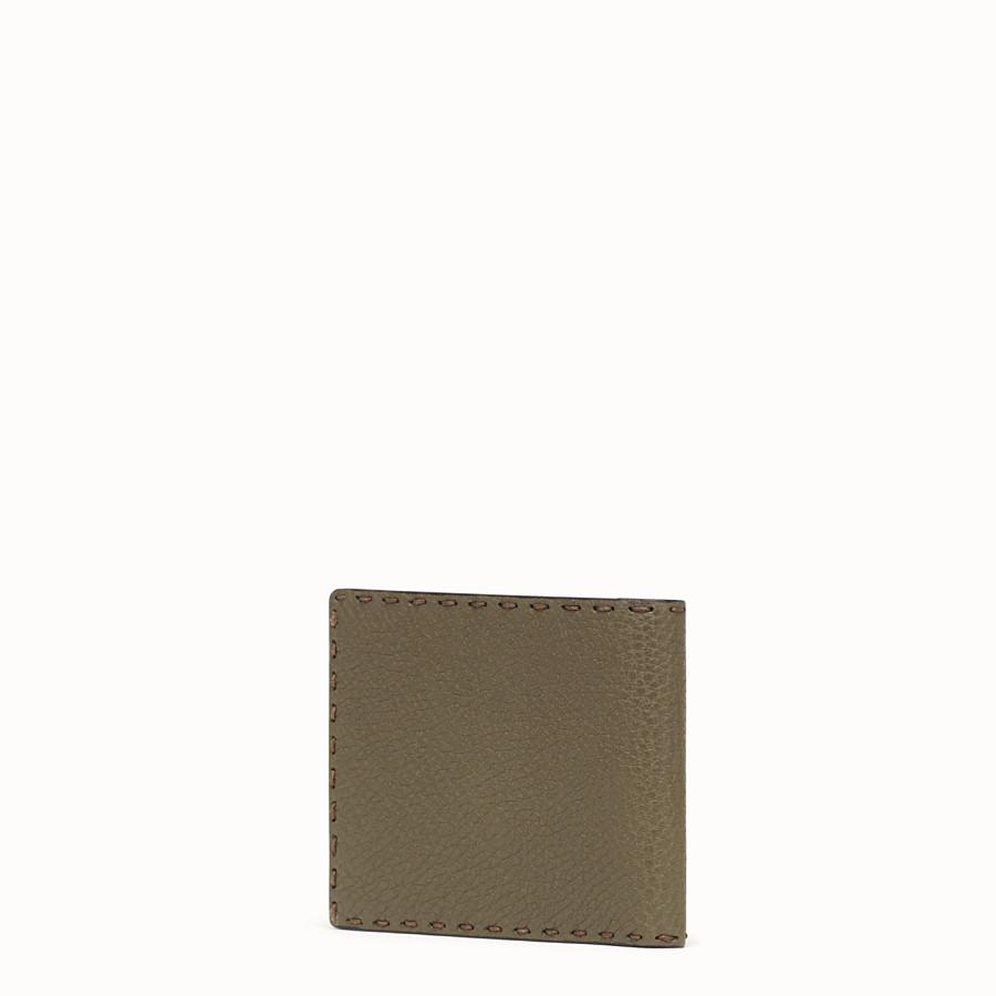 FENDI WALLET - Green leather bi-fold wallet - view 2 detail