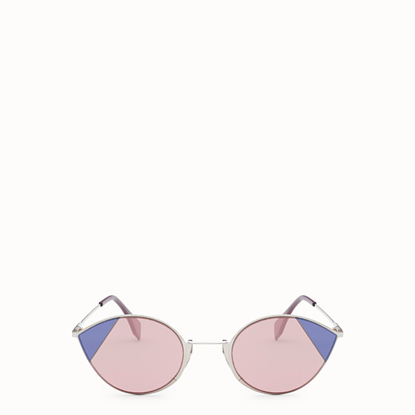FENDI CUT-EYE - A/W18 Fashion Show silver-coloured sunglasses - view 1 small thumbnail