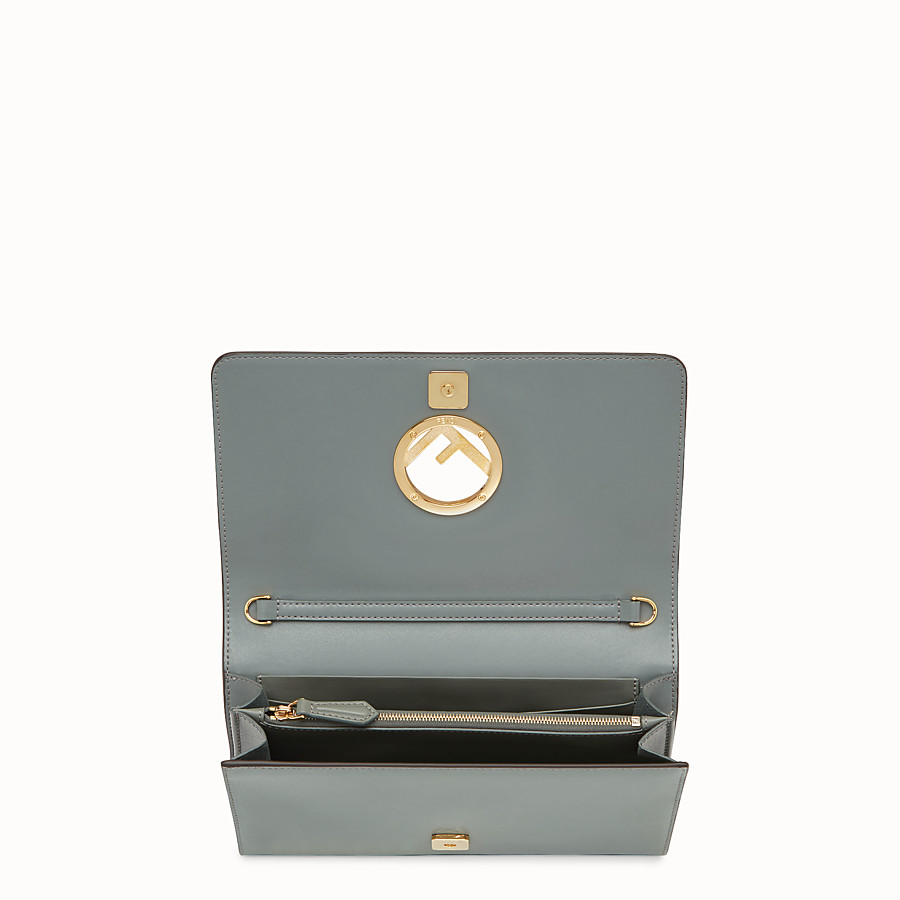 FENDI WALLET ON CHAIN - Green leather mini-bag - view 4 detail