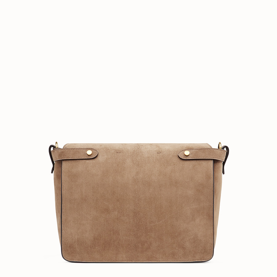 FENDI KAN U LARGE - Brown suede bag - view 4 detail