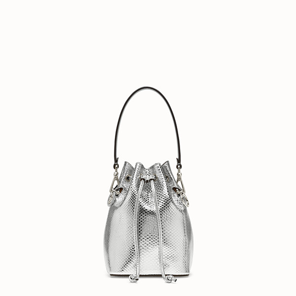 FENDI MON TRESOR - Silver karung mini bag - view 1 small thumbnail