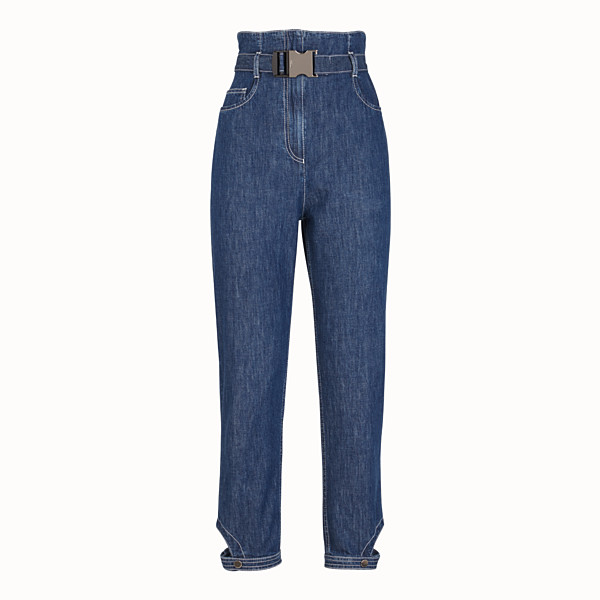FENDI HOSE - Jeans aus Baumwolle in Blau - view 1 small thumbnail
