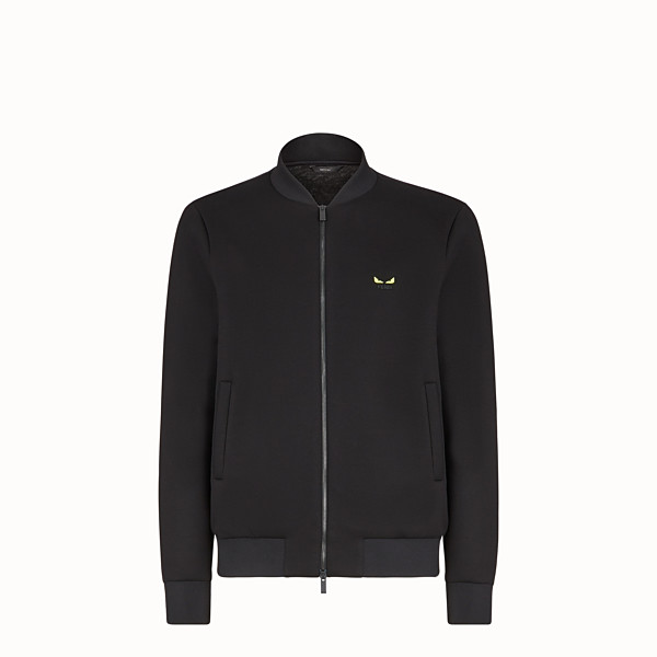 FENDI BLOUSON JACKET - Black scuba jacket - view 1 small thumbnail