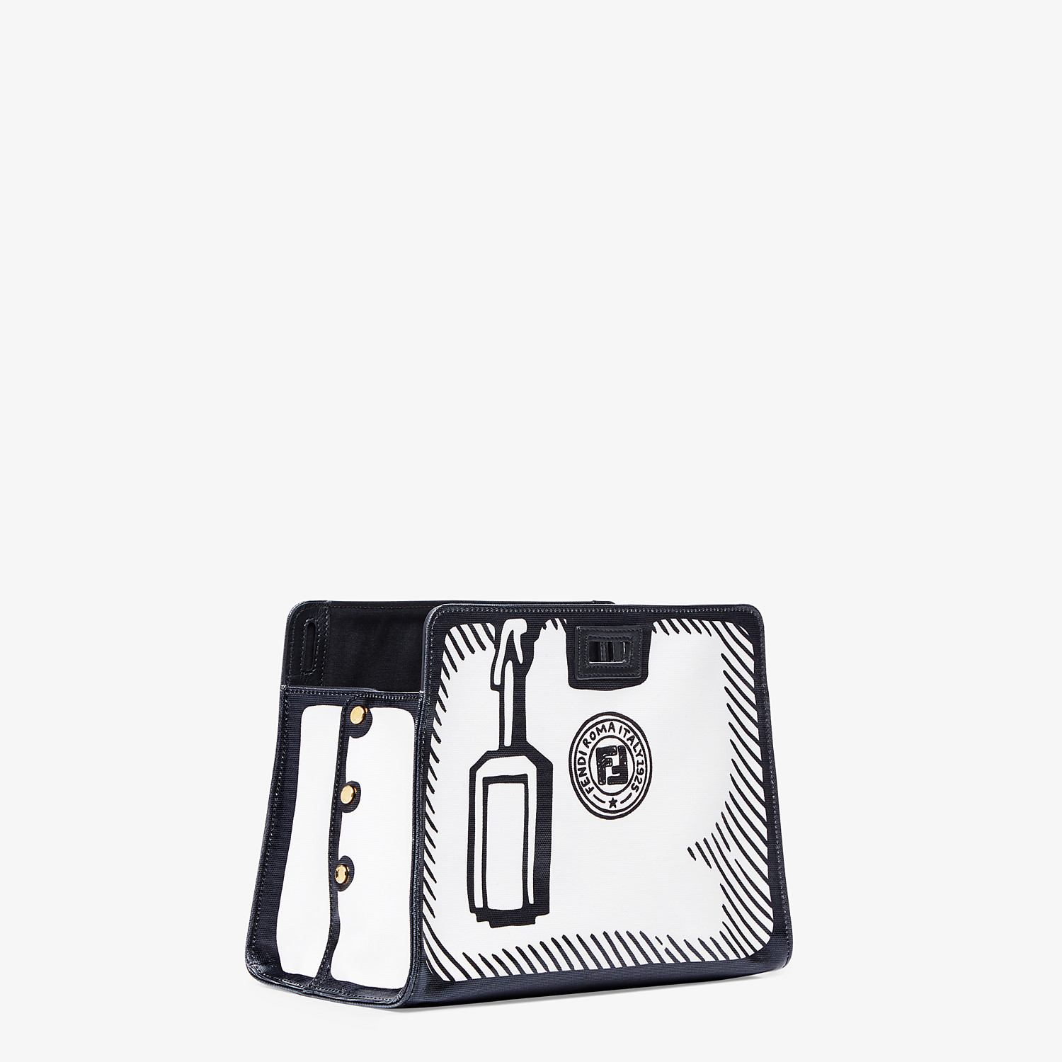 FENDI PEEKABOO DEFENDER SMALL - White canvas Peekaboo cover - view 2 detail