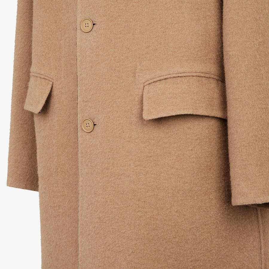 FENDI COAT - Beige wool coat - view 3 detail
