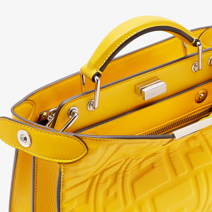 FENDI PEEKABOO ISEEU MINI - Yellow nappa leather bag - view 6 detail