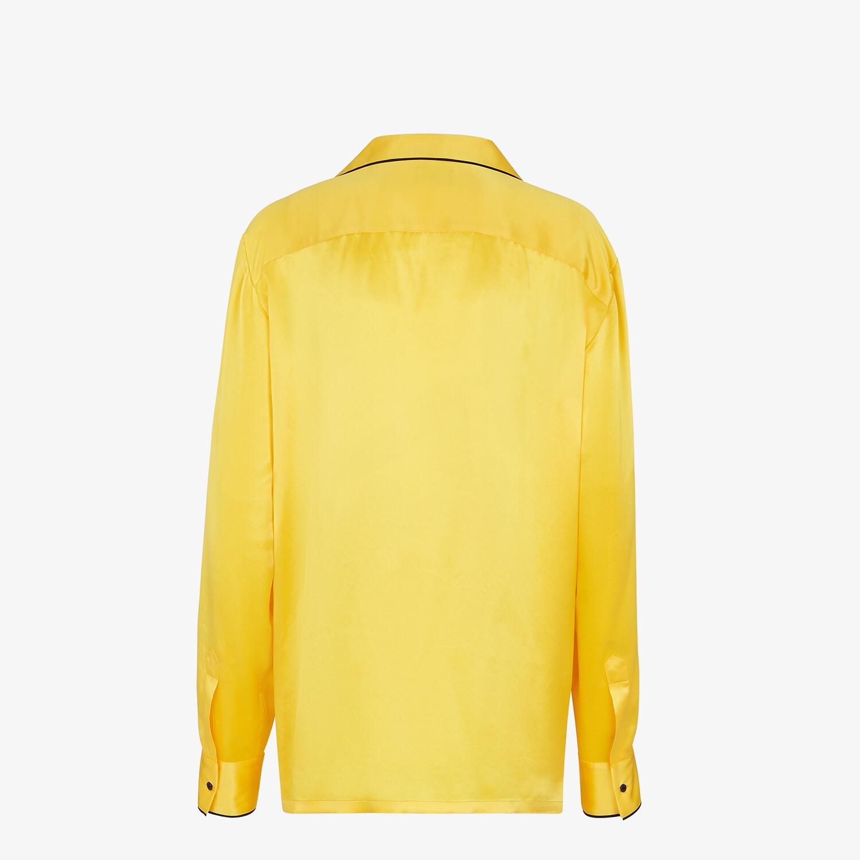 FENDI PAJAMAS - Yellow silk pajamas - view 2 detail
