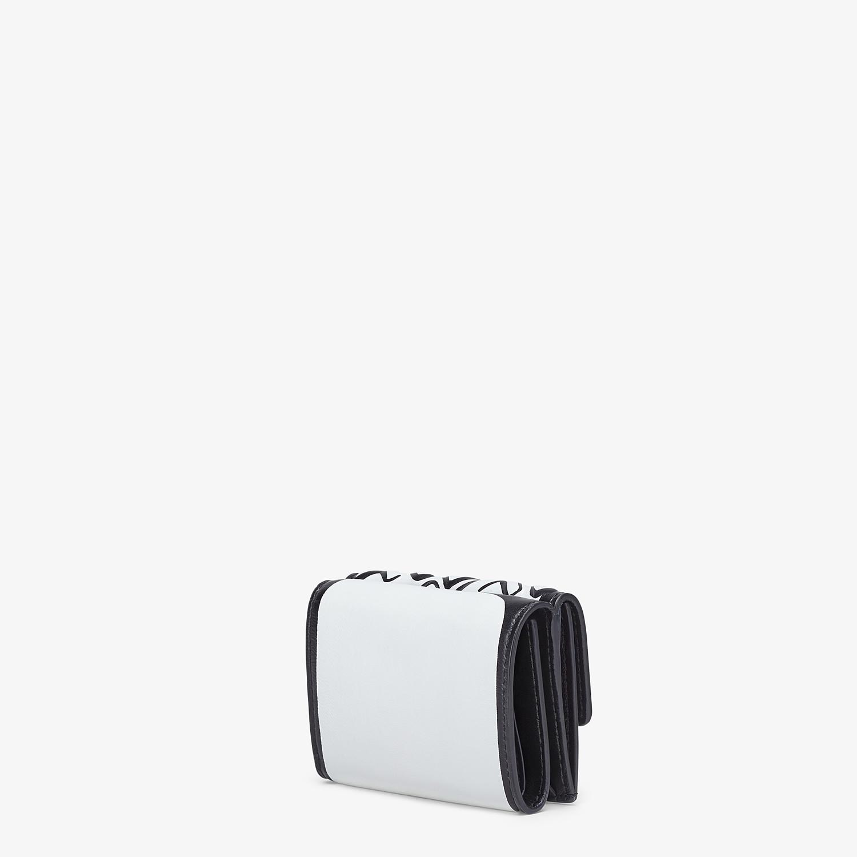 FENDI マイクロ 三つ折り財布 - ホワイトナッパレザー 財布 - view 2 detail