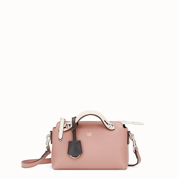FENDI BY THE WAY MINI - Small pink leather Boston bag - view 1 small thumbnail
