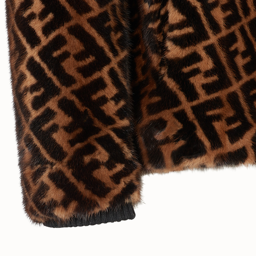 FENDI BLOUSON JACKET - Multicolour mink jacket - view 3 detail