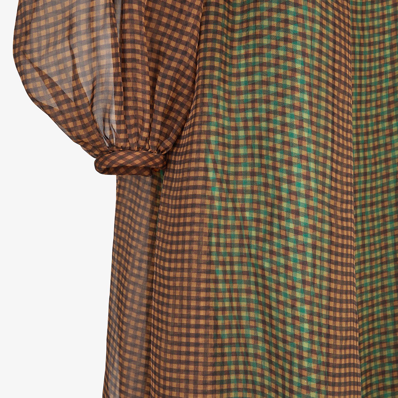 FENDI DRESS - Check organza dress - view 3 detail