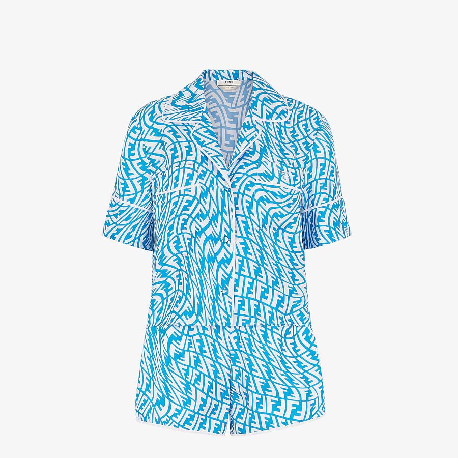 FENDI PIJAMA SET - Light blue silk pyjama set - view 1 detail