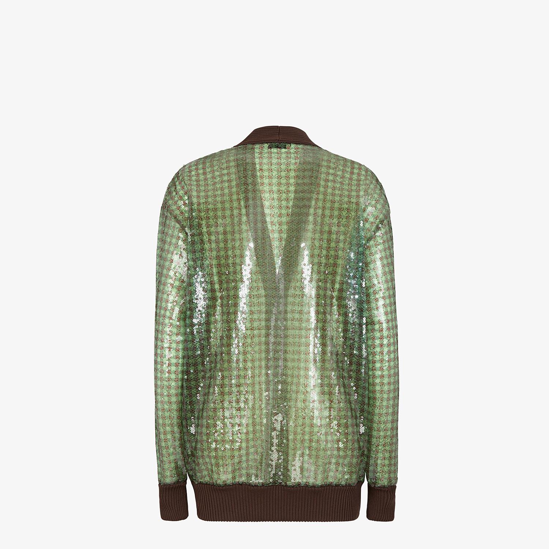 FENDI CARDIGAN - Check sequin blouson jacket - view 2 detail