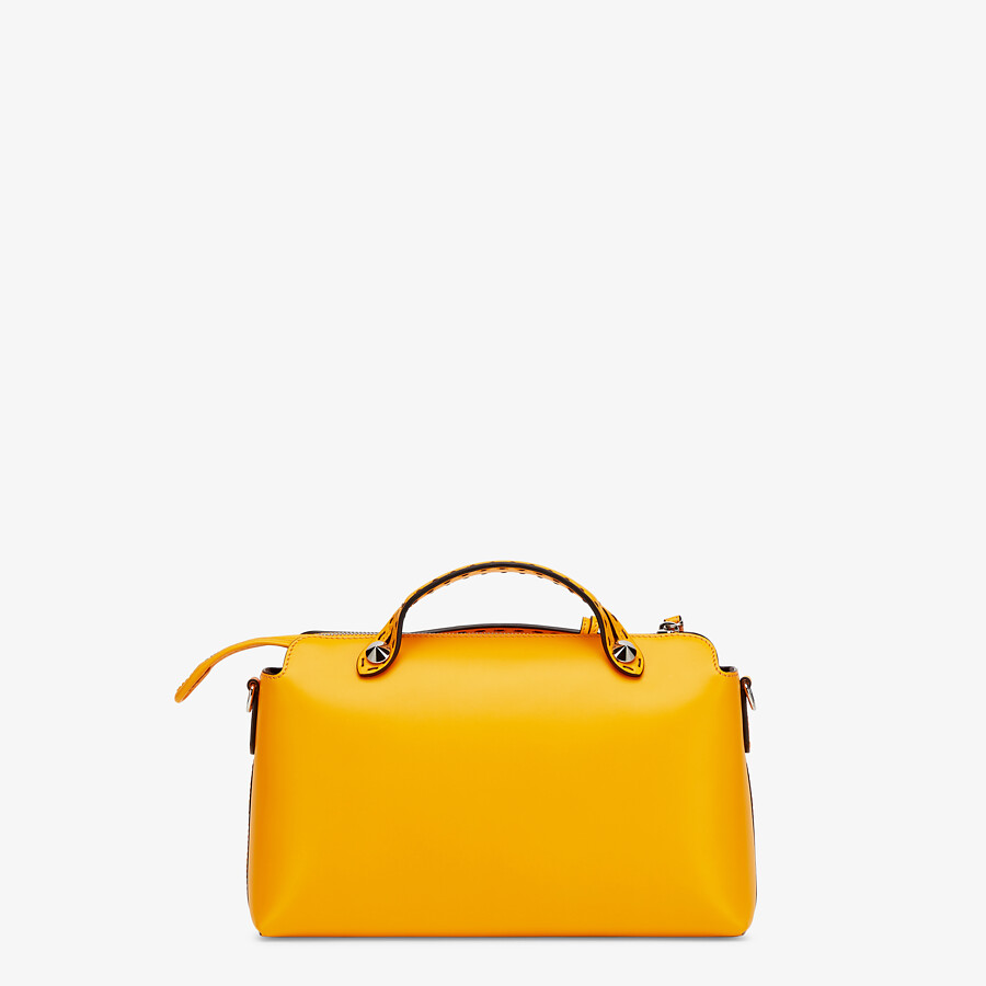 FENDI BY THE WAY MEDIUM - Orange leather Boston bag - view 4 detail