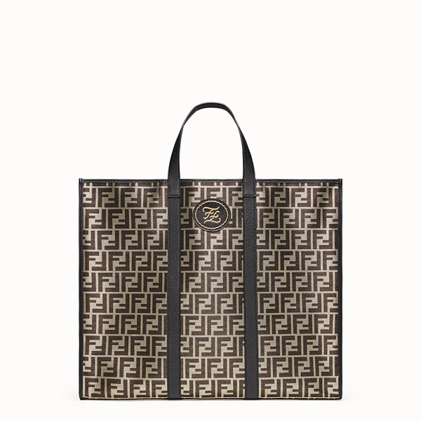 FENDI TOTE BAG - Gold-color fabric bag - view 1 small thumbnail