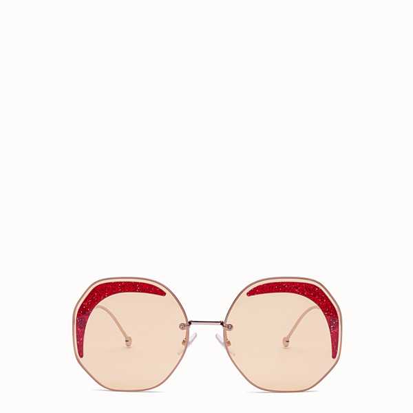 FENDI FENDI GLASS - Silver-coloured sunglasses - view 1 small thumbnail