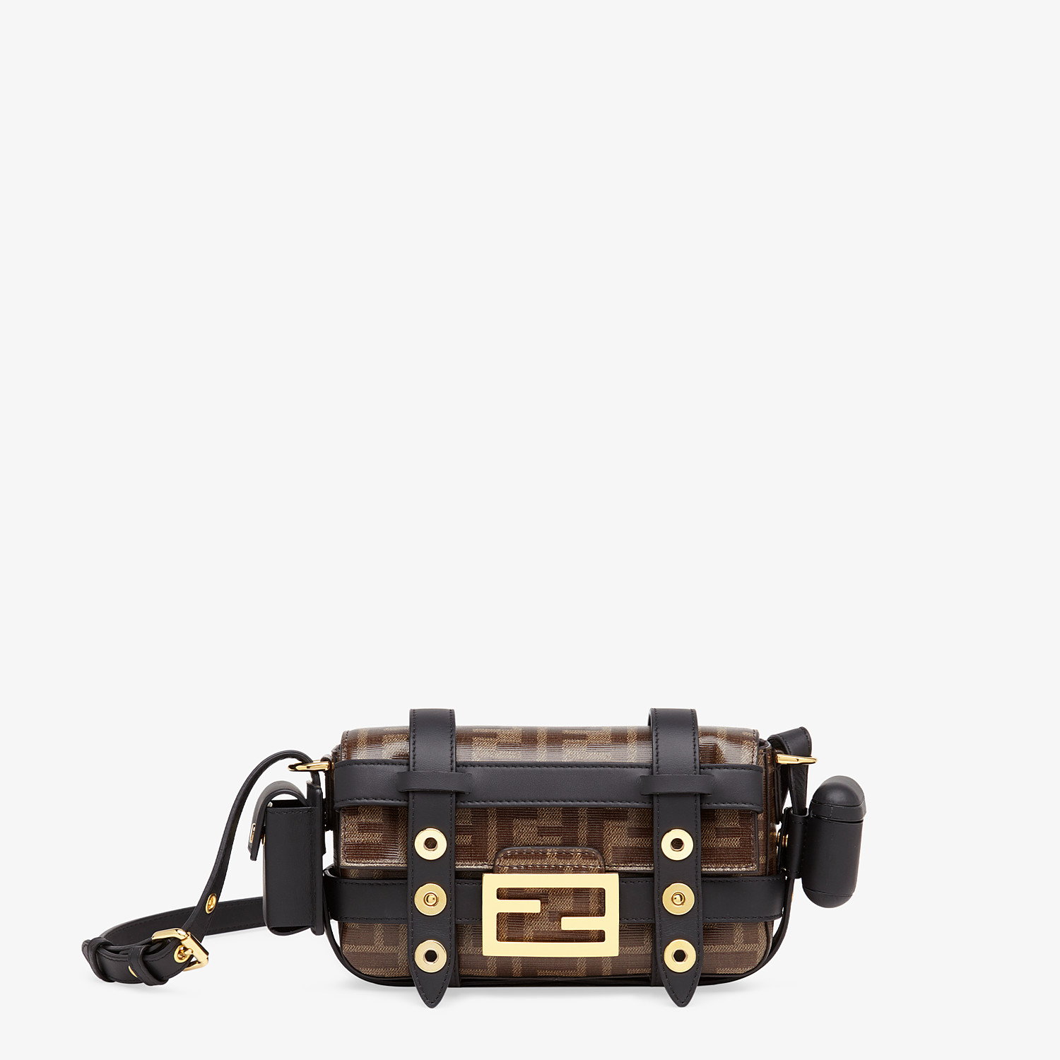 FENDI BAGUETTE MINI CAGE - Multicolor leather and fabric bag - view 1 detail