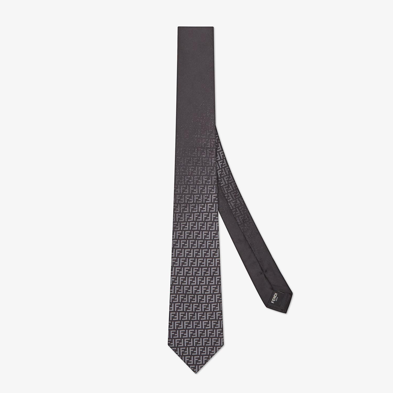 FENDI TIE - Black silk tie - view 1 detail