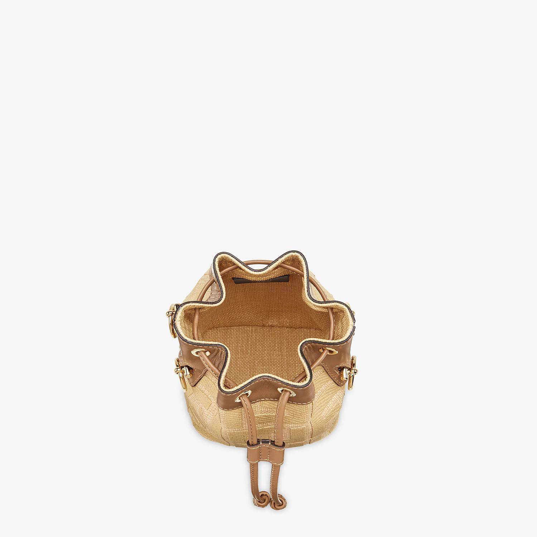 FENDI MON TRESOR - Beige raffia mini bag - view 5 detail