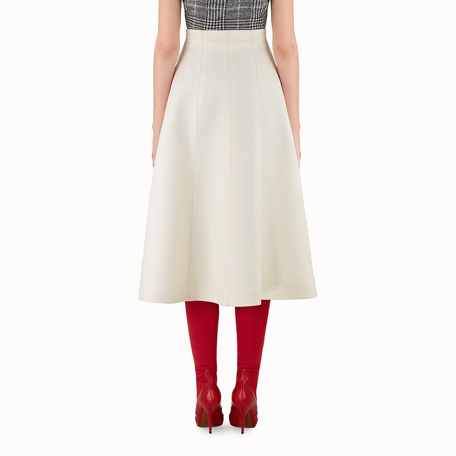 FENDI SKIRT - White wool and silk skirt - view 2 detail