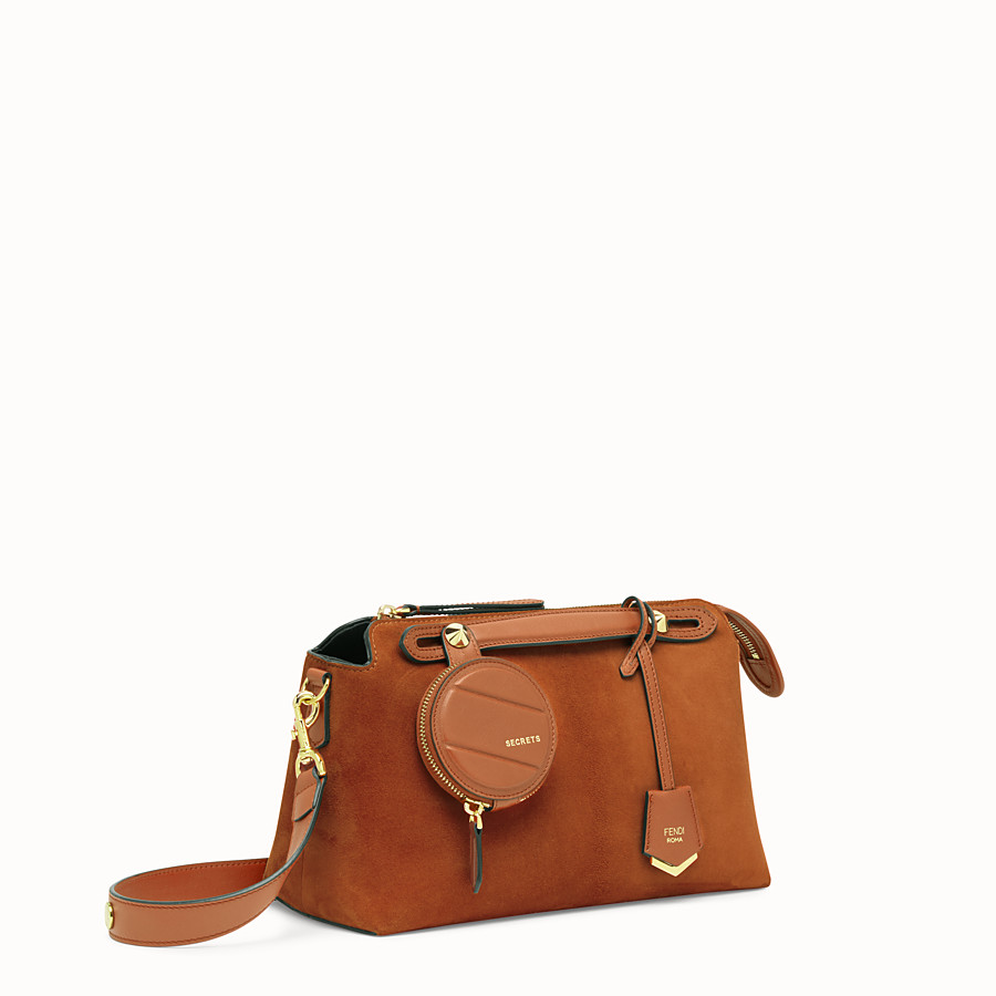 FENDI BY THE WAY MEDIUM - Brown suede Boston bag - view 2 detail