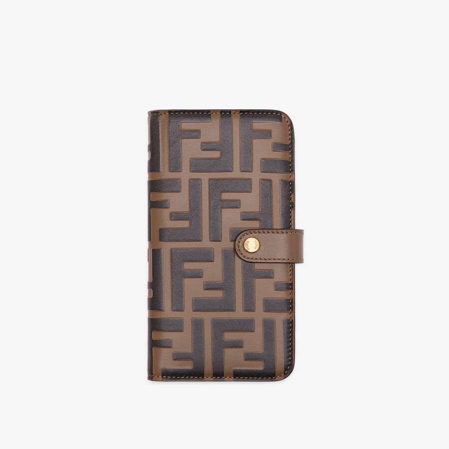 FENDI SMARTPHONE CASE - Brown leather cover - view 1 detail