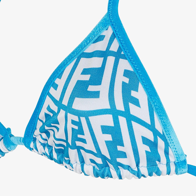 FENDI BIKINI - Light blue Lycra® bikini - view 3 detail