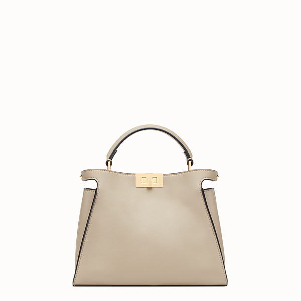 FENDI PEEKABOO ICONIC ESSENTIALLY - Borsa in pelle beige - vista 1 thumbnail piccola