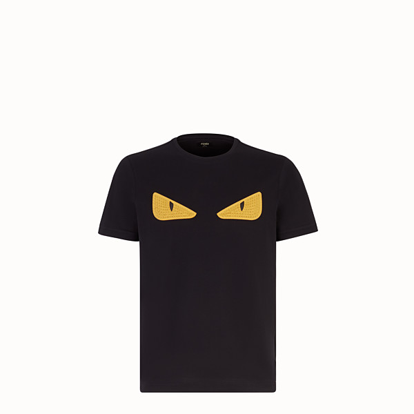FENDI T-SHIRT - Black jersey T-shirt - view 1 small thumbnail