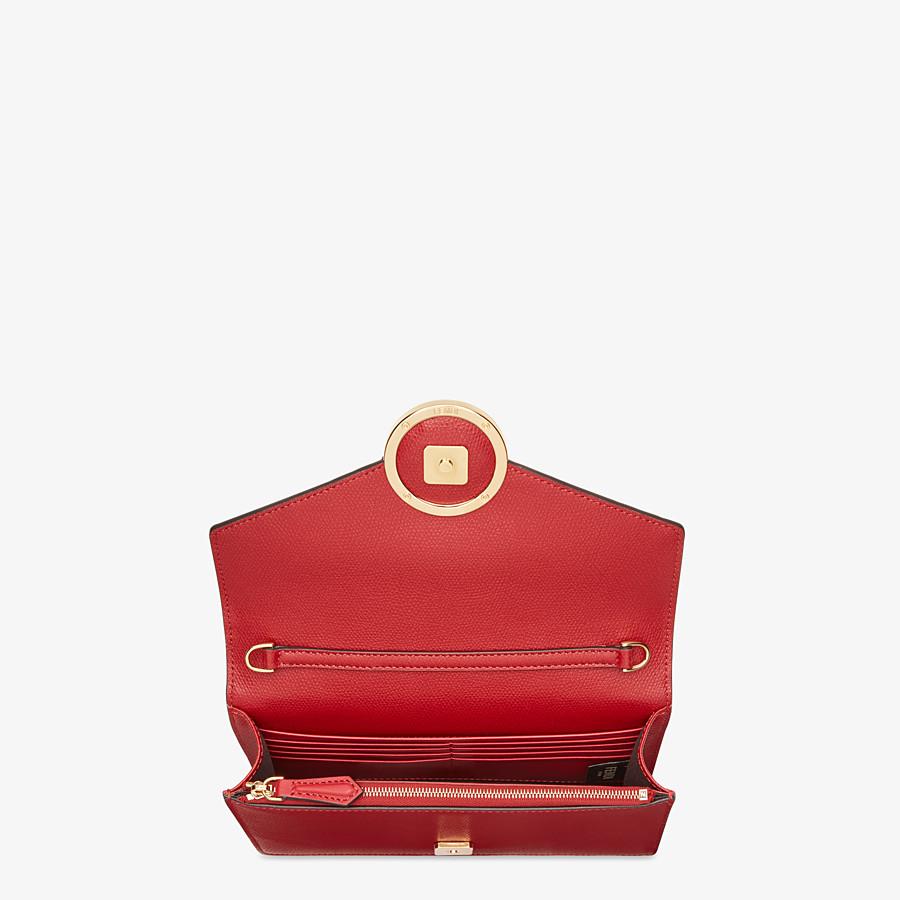 FENDI WALLET ON CHAIN - Red leather mini bag - view 4 detail