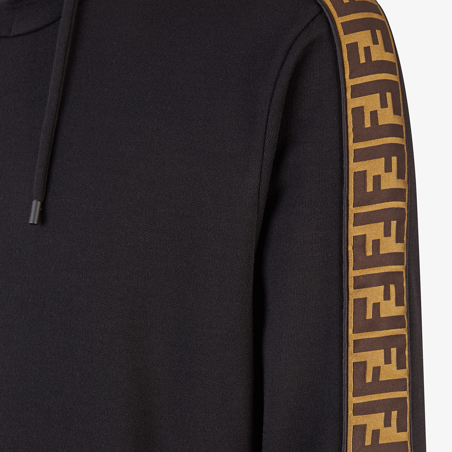 FENDI SWEATSHIRT - Black wool and cotton sweatshirt - view 3 detail