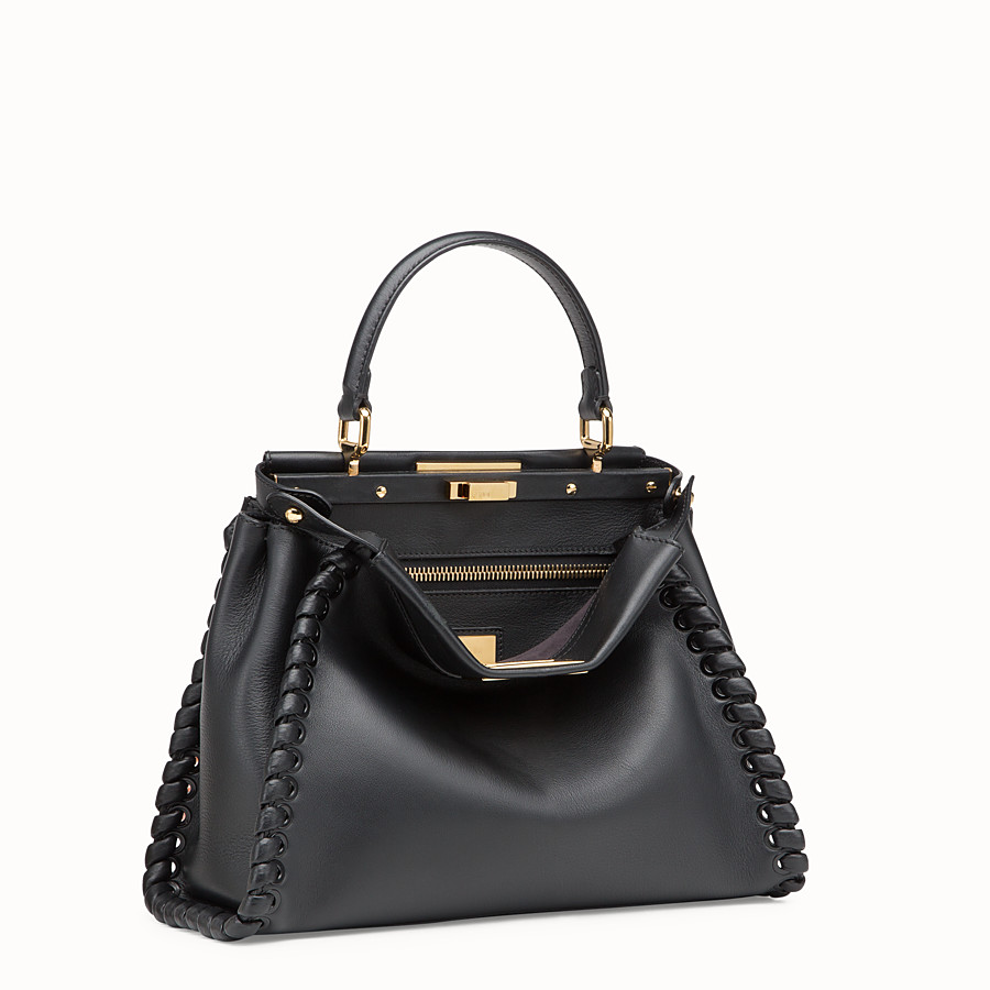 FENDI PEEKABOO ICONIC MEDIUM - Schwarze Ledertasche - view 2 detail