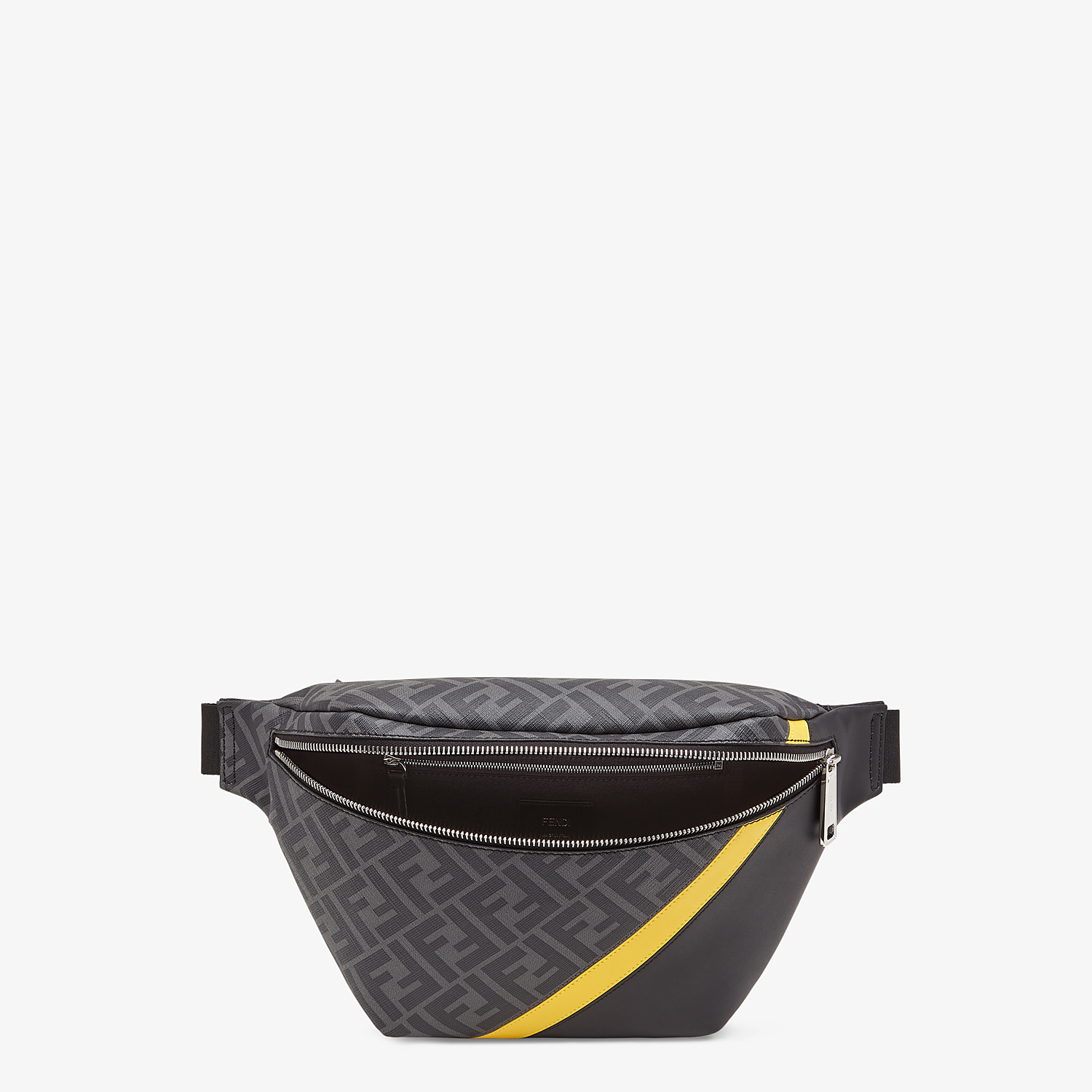 FENDI BELT BAG - Gray fabric belt bag - view 4 detail