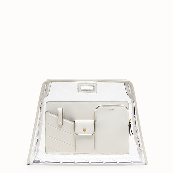 FENDI MEDIUM PEEKABOO DEFENDER - Peekaboo white leather bag cover. - view 1 small thumbnail