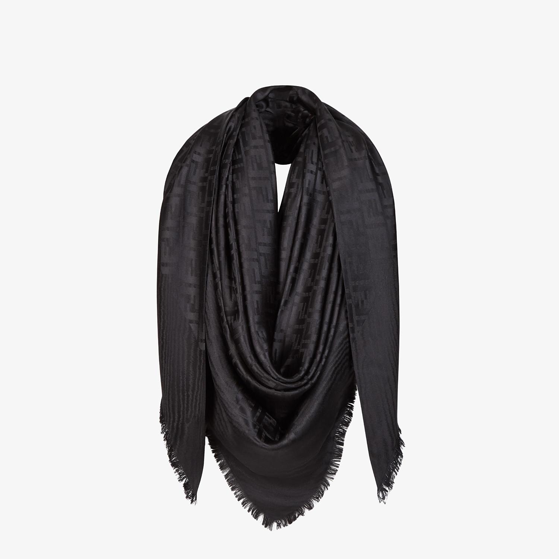 FENDI SCIALLE FF - Scialle in seta nera - vista 2 dettaglio