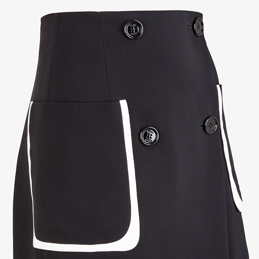 FENDI SKIRT - Black cady skirt - view 3 detail