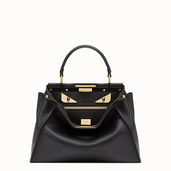 FENDI PEEKABOO ICONIC MEDIUM - Bolso de piel negra - view 1 small thumbnail