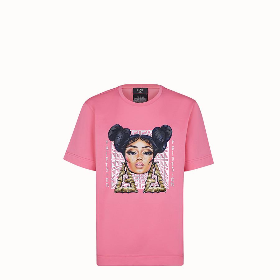 FENDI T-SHIRT - Fendi Prints On jersey T-shirt - view 1 detail